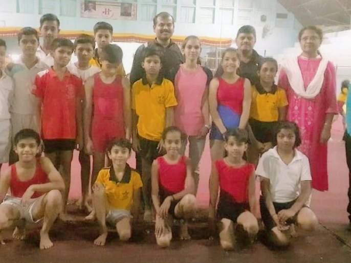 Amravati team departs for state championship of gymnastics | राज्य अजिंक्यपद जिम्नॅस्टिक स्पर्धेसाठी अमरावतीचा संघ रवाना