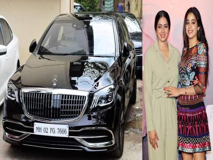 Janhvi bought luxury car, Sridevi in memory of her mother and connection with this car | आईच्या आठवणीत जान्हवीने विकत घेतली लक्झरी कार, श्रीदेवी आणि या कारमध्ये आहे हे कनेक्शन