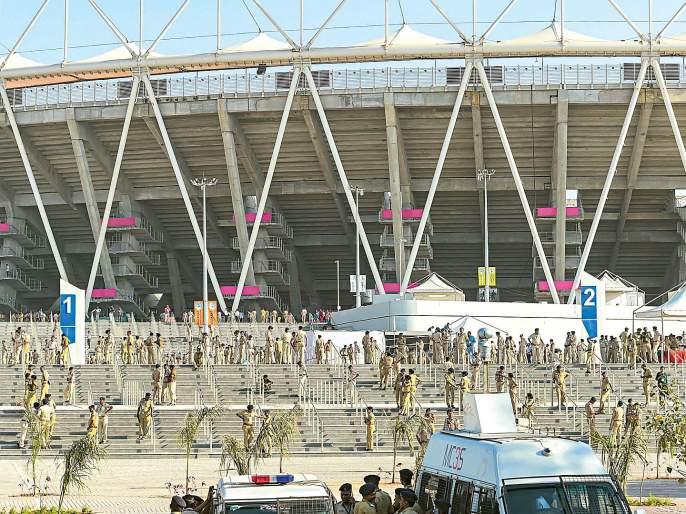 Ahmedabad ready for Trump's welcome   ट्रम्प यांच्या स्वागतासाठी अहमदाबाद सज्ज
