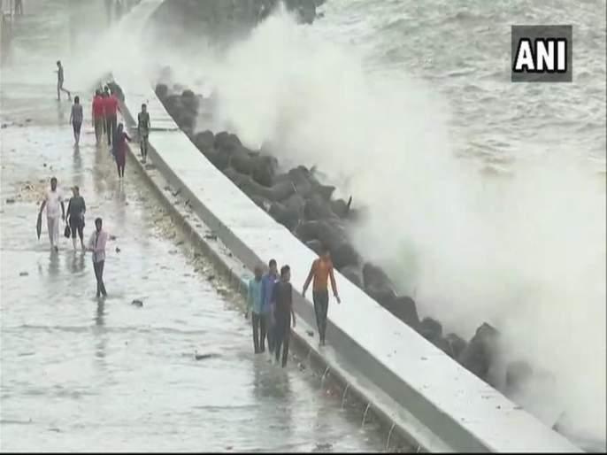 Mumbai Rain Updates : heavy rainfall warning in mumbai and Konkan | Mumbai Rain Updates : मुंबईच्या समुद्रकिनाऱ्यावर लाटांचं तांडव, नागरिकांना सतर्कतेचा इशारा