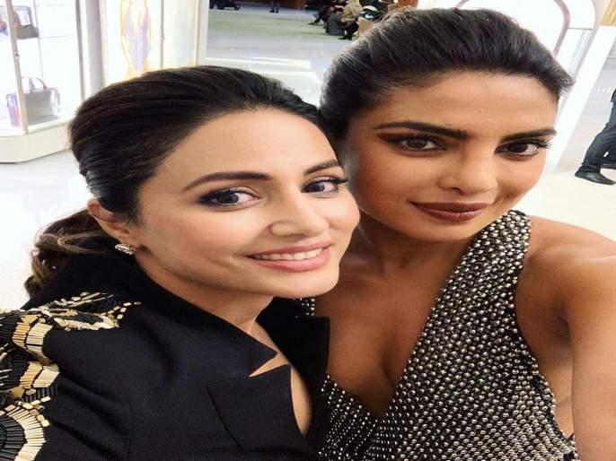 Hina khans Fan Moment With Priyanka Chopra And Nick Jonas | प्रियंका चोप्रासोबतच्या या सेल्फीमुळे हिना खानवर केली या प्रोड्युसरने टीका, तर टीव्ही सेलेब्सने दिले असे उत्तर