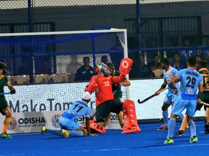 Hockey World Cup 2018: India's second goal against South Africa   Hockey World Cup 2018 : दक्षिण आफ्रिकेविरुद्ध भारताचा दुसरा गोल
