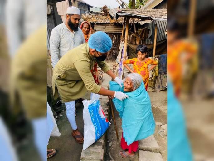 Corona Virus : Bangladesh all-rounder Mosaddek Hossain stands up for the poor, takes responsibility of 200 families svg | Corona Virus : रस्त्यावर उतरून गरिबांना मदत करतोय क्रिकेटपटू; घेतली 200 कुटुंबांची जबाबदारी