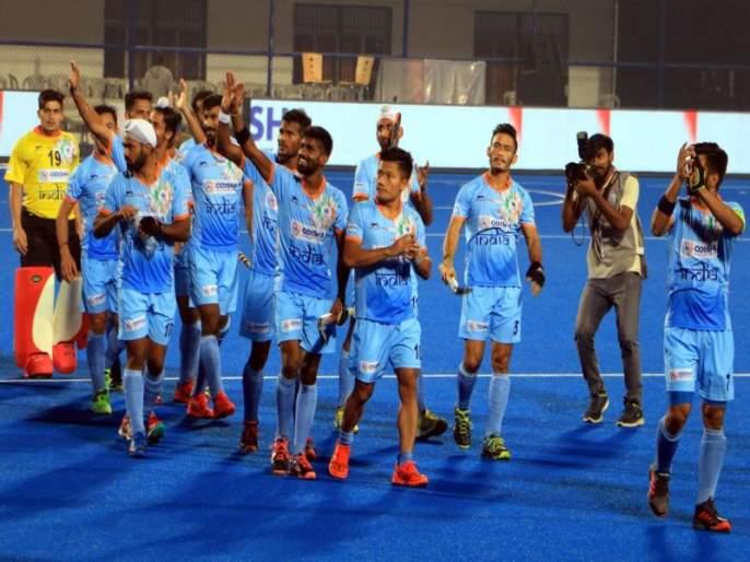 Hockey World Cup 2018 : Indian men's hockey team almost qualify for quarter finals | Hockey World Cup 2018: भारताचा उपांत्यपूर्व फेरीतील प्रवेश पक्का, पण...