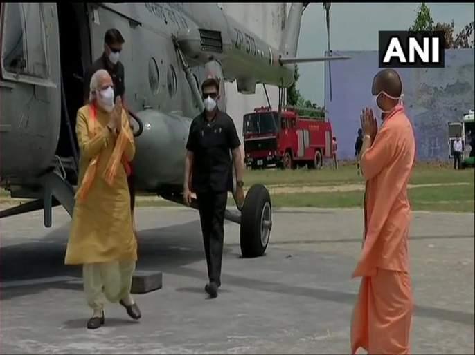 Ram Mandir Bhumi Pooja:PM Narendra Modi arrives in Ayodhya for Ram Mandir Bhumi Pujan ceremony | Ram Mandir Bhumi Pooja: नरेंद्र मोदी राममंदिर भूमिपूजन सोहळ्यासाठी अयोध्येत दाखल ; पाहा कसा असणार संपूर्ण दौरा