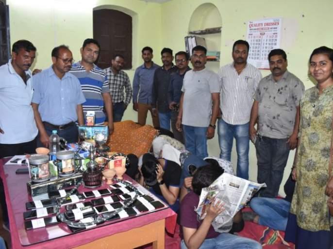 Raid on Hukka Parlor in Firangi Café in Nagpur   नागपुरातील फिरंगी कॅफेमधील हुक्का पार्लरवर छापा
