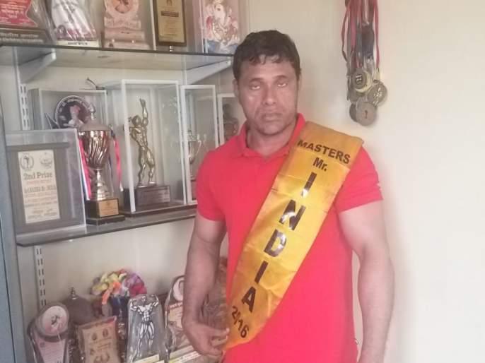 construction worker become bodybuilding champion and get Bharat shree award   गवंडीकाम करणाऱ्या गिरीशची भारत श्री किताबाला गवसणी
