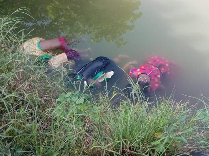 Buldhana: body of a woman with four daughters was found in the well   माळेगावात चार मुलींसह महिलेचा मृतदेह विहीरीत आढळला