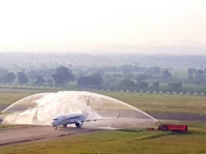 Spice Jet's 'take off' from Aurangabad; Aurangabad-Delhi Airlines starts on Vijayadashmi | स्पाईस जेटचे औरंगाबादहून 'टेक ऑफ ';औरंगाबाद - दिल्ली विमानसेवा सुरू