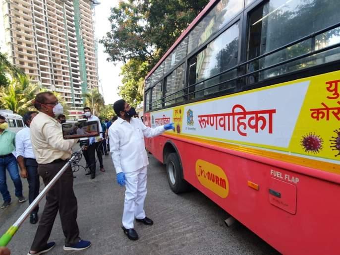 BMC provides 81 ambulance facilities, Guardian Minister Eknath Shinde inspects ambulances   पालिकेने उपलब्ध केली ८१ रूग्णवाहिकांची सुविधा, पालकमंत्री एकनाथ शिंदे यांनी केली रूग्णवाहिकांची पाहणी