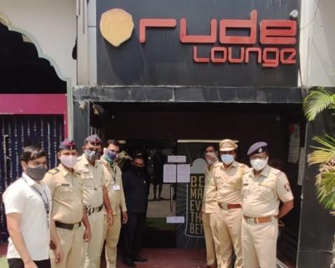 Hotel 'sealed' by police ; action on hucca parlor in Hinjewadi | हिंजवडीत हुक्का पार्लरवर कारवाई; हॉटेल रुड लाउंज पोलिसांनी केले 'सील'