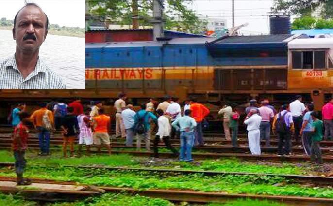 Death toll from a train falls on Solapur station | धक्कादायक; रेल्वेखाली पडून कर्मचाºयांचा मृत्यू, सोलापूर स्थानकावरील घटना