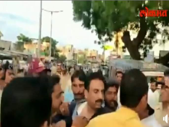 Maharashtra Election 2019 : MP Jalil and NCP candidate Kadir Maulana beaten | Maharashtra Election 2019 : खासदार जलील आणि राष्ट्रवादी काँग्रेसचे उमेदवार कदीर मौलाना भिडले