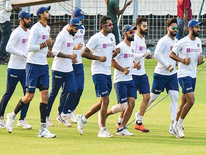 Eden Gardens Stadium in pink; The hosts India against India against Bangladesh | इडन गार्डन्स स्टेडियम रंगले गुलाबी रंगात; बांगलादेशविरुद्ध यजमान भारताचे पारडे जड