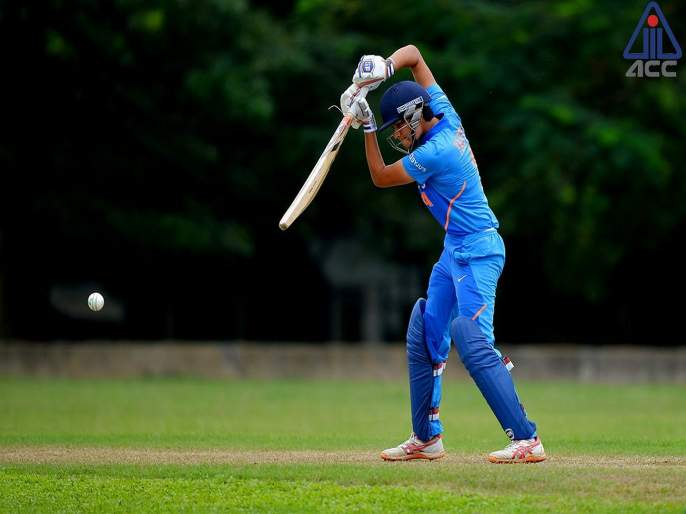 Women Emerging Asia cup; India beat Pakistan by 7 wickets   India vs Pakistan : भारताचा दणदणीत विजय, पाकिस्तानवर ओढावली नामुष्की