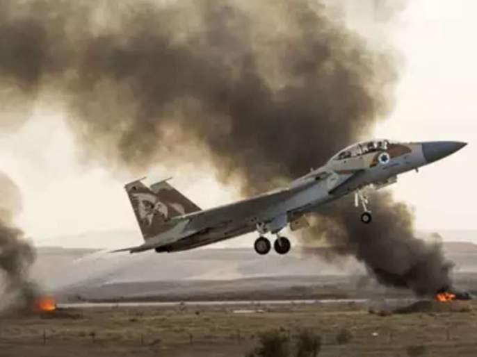 israeli military air strike in gaza after 2 rocket attacks in tel aviv onm | इस्रायलनं गाझावर केला एअर स्ट्राइक, 100 ठिकाणी टाकल्या मिसाइल