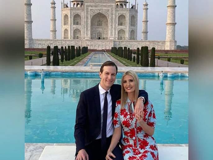Donald Trump Visit: Trump's family in love with the Taj Mahal | Donald Trump Visit:ट्रम्प यांचे कुटुंबीयताजमहालाच्या प्रेमात