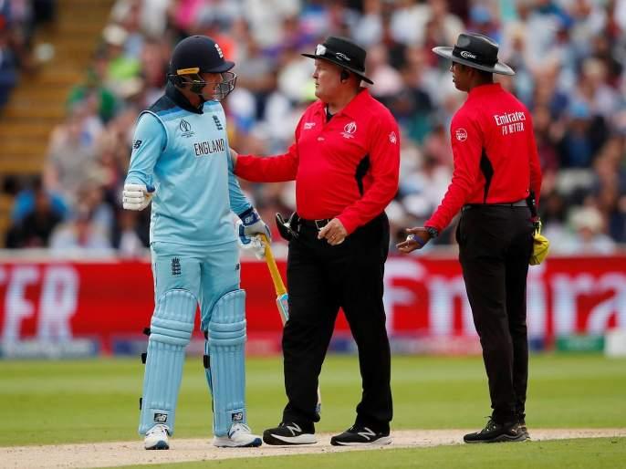 ICC World Cup 2019 : Jason Roy free to play World Cup final? England star fined 30% match fee, receives demerit points for dissent | ICC World Cup 2019 : इंग्लंडचा ओपनर जेसन रॉय फायनल खेळणार का? आयसीसीनं सुनावली 'ही' शिक्षा