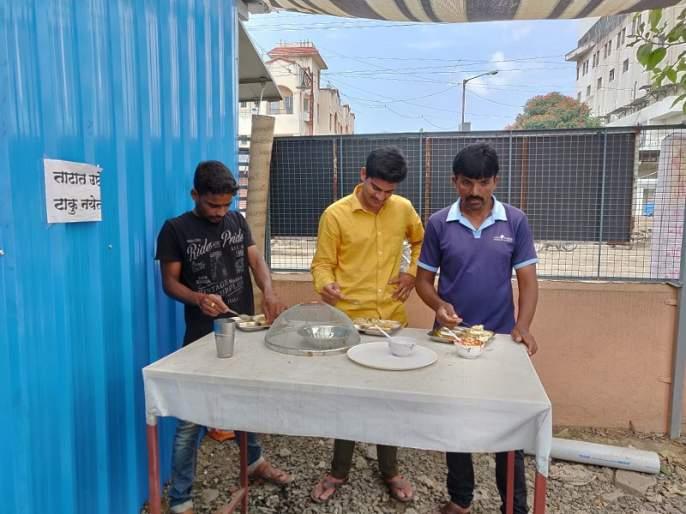 Minimum 10 rupees meals in the city: 5 people avail this service daily   नगरमध्ये अवघ्या दहा रुपयांत भरपेट जेवण: दररोज २०० जण घेतात या सेवेचा लाभ