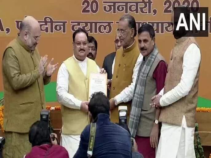 JP Nadda elected unopposed as the National President of Bharatiya Janata Party (BJP) | भाजपाच्या राष्ट्रीय अध्यक्षपदी जे. पी. नड्डायांची निवड