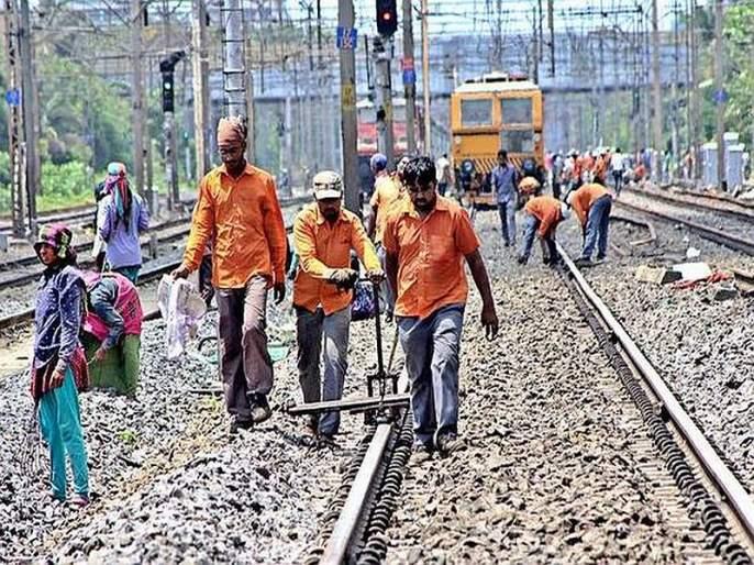 Megablock on western, central and harbour railway lines   रेल्वेच्या तिन्ही मार्गांवर मेगाब्लॉक