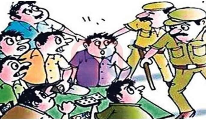 One lakh seized from gamblers in Lonavala, nine charged   लोणावळ्यात जुगार खेळणाऱ्यांकडून एक लाखांचा मुद्देमाल हस्तगत, नऊ जणांवर गुन्हा दाखल