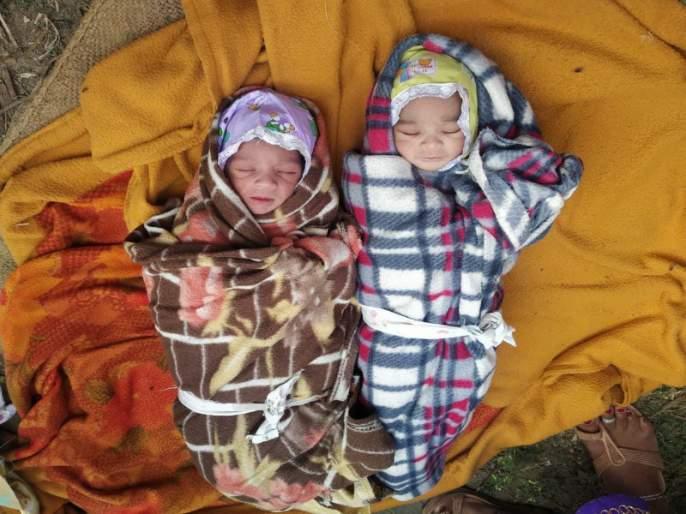 Address of parents of 'those' about twins who found in garbage box   कचऱ्यात टाकलेल्या ' त्या ' जुळ्यामुलांच्या पालकांचा पत्ता सापडला