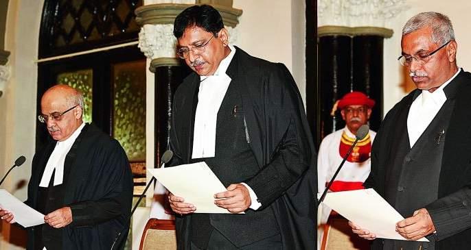 Nagpur High Court also experienced oath-taking ceremony   नागपूर उच्च न्यायालयानेही अनुभवला शपथविधी सोहळा