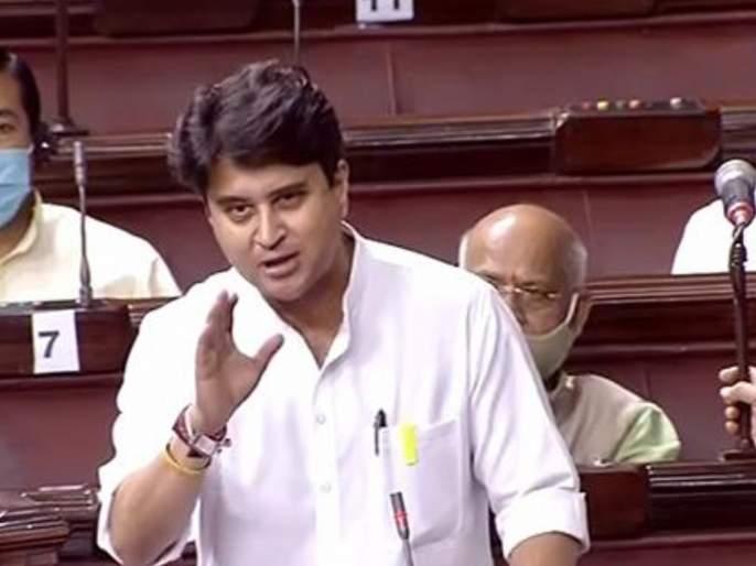"bjp leader jyotiraditya scindia criticised congress over 100 crore allegation issue   ""आता तोंड उघडायला भाग पाडू नका, १०० कोटींची वसुली...""; ज्योतिरादित्य शिंदे कडाडले"