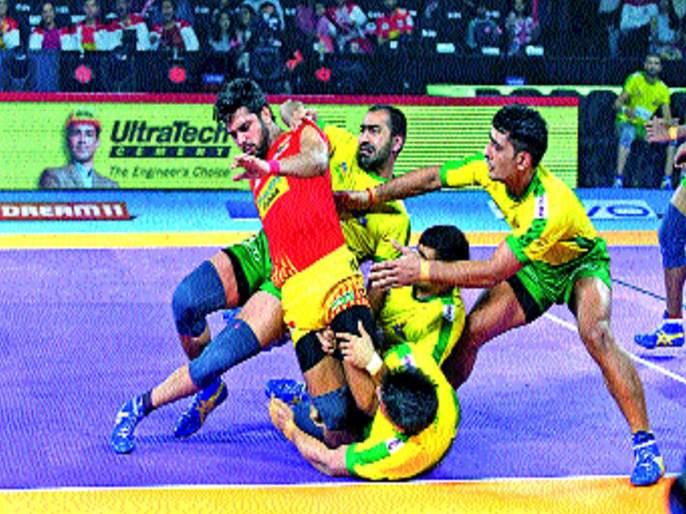 Tamil Thalaivas win against Gujarat | तमिल थलैवाज्चा गुजरातवर विजय