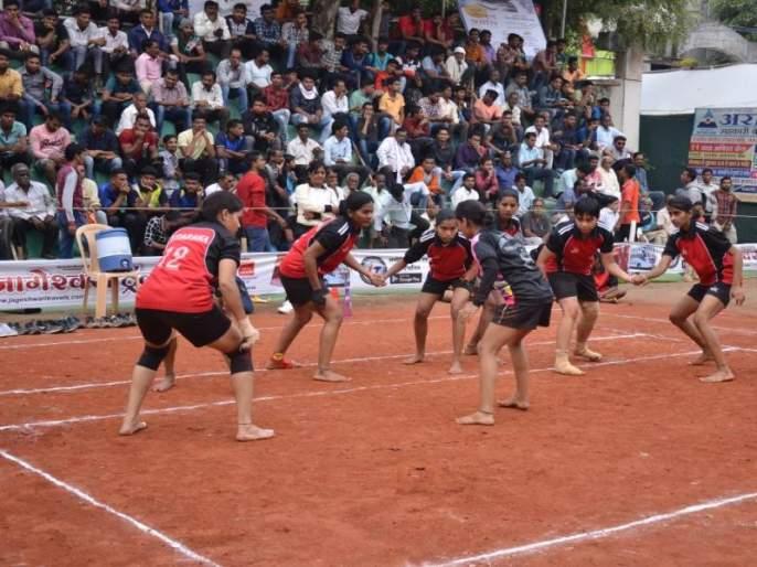 State level Kabaddi competition: Pulgaon team defeats Amravati team with one points   राज्यस्तरीय कबड्डी स्पर्धा : पुलगाव संघाने एका गुणाचे फरकाने अमरावती संघाला नमवले