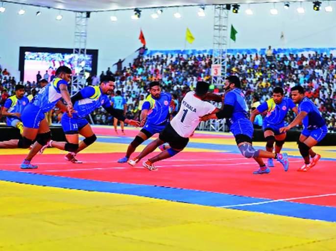 National kabaddi competition: Maharashtra, Bihar, Indian Railways, Karnataka quarter-finals   राष्ट्रीय कबड्डी स्पर्धा: महाराष्ट्र, बिहार, भारतीय रेल्वे, कर्नाटक उपांत्यपूर्व फेरीत दाखल