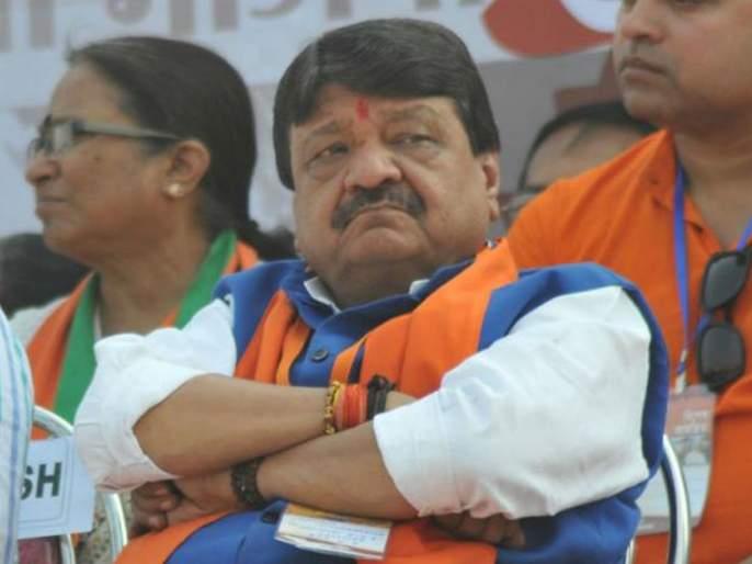 bjp leader kailash vijayvargiya reaction after journalist ask question about his son akash | तुमची लायकी काय? 'बॅटमॅन' पुत्राबद्दल प्रश्न विचारल्यानं भाजपा नेत्याचा पारा चढला
