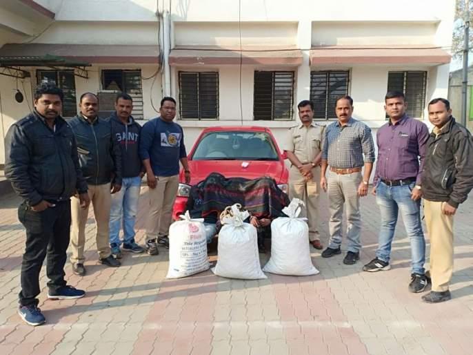 Rs 4.60 lakh ganja caught on Kamathi-Kanhan road: Three arrested | कामठी-कन्हान मार्गावर ४.६० लाखांचा गांजा पकडला : तिघांना अटक