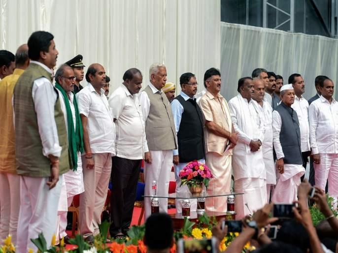 After the Cabinet expansion in Karnataka, dissent among Congress and JDS MLAs   कर्नाटकमधील मंत्रिमंडळ विस्तारानंतर काँग्रेस, जेडीएसच्या आमदारांमध्ये असंतोष
