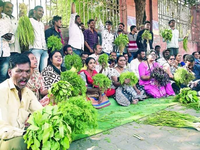 Vegetable vendors in Kansinagar, Nagpur demanded alternative land | नागपूरच्या कांशीनगरातील भाजीविक्रेत्यांनी केली पर्यायी जागेची मागणी