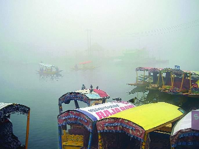 Srinagar's coldest night this year   श्रीनगरमध्ये यंदाची सर्वाधिक थंड रात्र;काश्मीर खोऱ्यात हुडहुडी