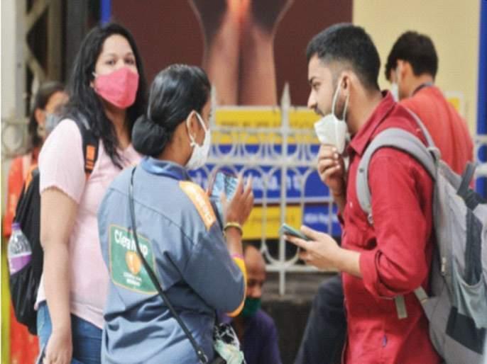 14,100 Mumbaikars fined for traveling without masks | विनामास्क फिरणाऱ्या १४,१०० मुंबईकरांना दंड; मार्शल्स मुंबईतील नागरिकांवर लक्ष ठेऊन