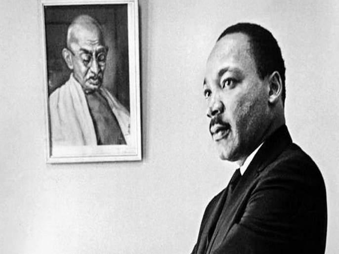 Mahatma Gandhi and Luther King   गांधी आणि लुथर किंग