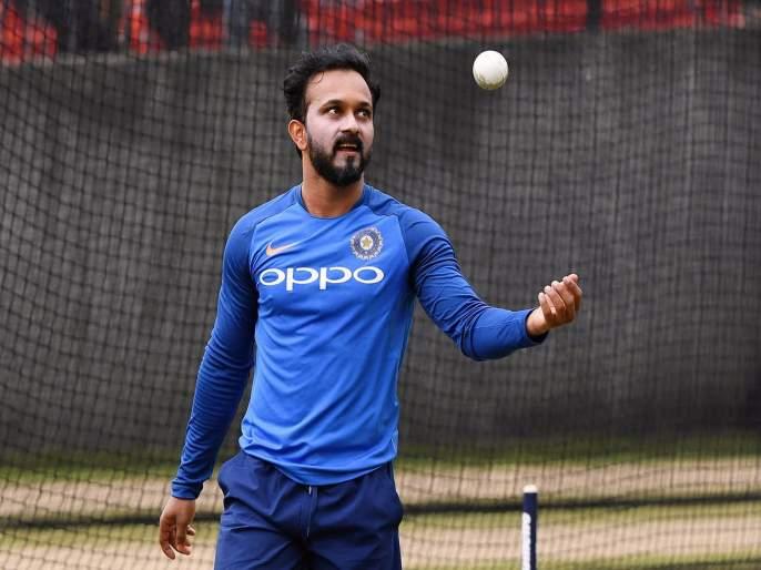 ICC World Cup 2019, IND vs NZ : Indian All rounder Kedar Jadhav pray for not raining   ICC World Cup 2019, IND vs NZ : केदार जाधवचे वरुण राजाला साकडे, महाराष्ट्रात पाऊस पडण्यासाठी गाऱ्हाणं
