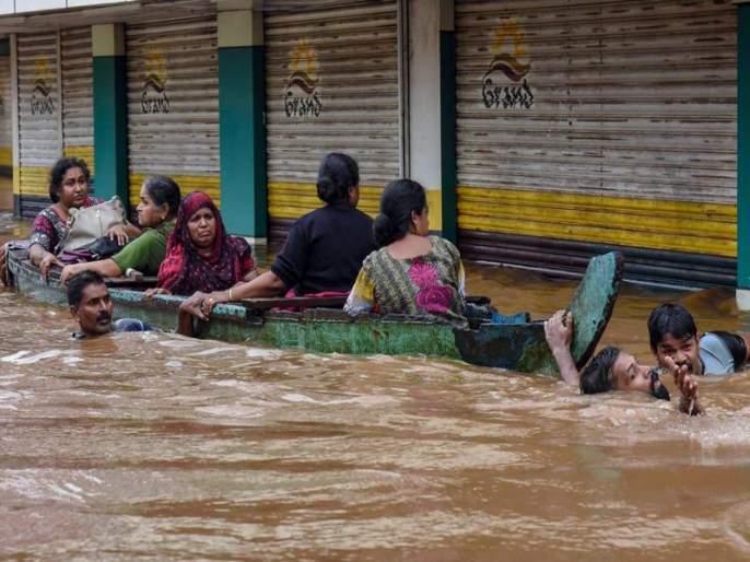 Kerala floods: Prime Minister Narendra Modi Kochi landed at the airport | Kerala Floods Live : केरळला देशभरातून मदतीचा ओघ; काँग्रेसचे सर्वच आमदार देणार 1 महिन्यांचा पगार