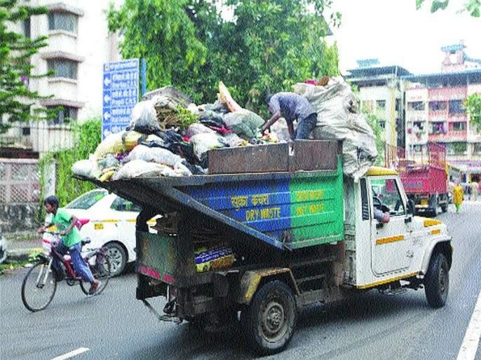 Bell trash overflow; Citizens suffer from stink | घंटागाडीतील कचरा ओव्हर फ्लो; दुर्गंधीने नागरिक त्रस्त