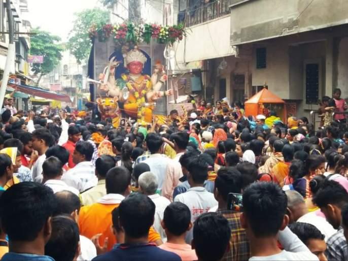 Great Goddess; historic Peace Festival in Khamgaon | मोठी देवीला श्रध्देचा निरोप ;खामगावात ऐतिहासिक शांती महोत्सवाची सांगता