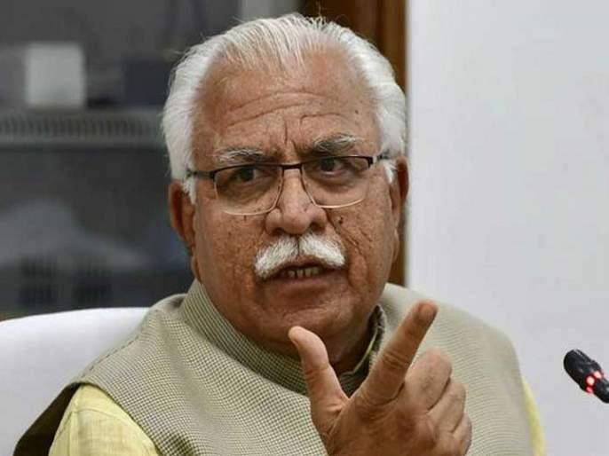 i will chop your neck says haryana cm manohar lal khattar threatens to his leader | VIDEO: तुझी मान कापून टाकेन; हाती कुऱ्हाड घेत मुख्यमंत्र्यांची भाजपा नेत्याला धमकी