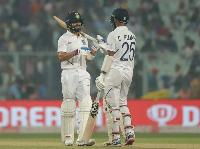 Ind vs Ban, 2nd Test: India took lead on Bangladesh in first day of day night test match | Ind vs Ban, 2nd Test : पहिल्या दिवस अखेर भारताची बांगलादेशवर आघाडी