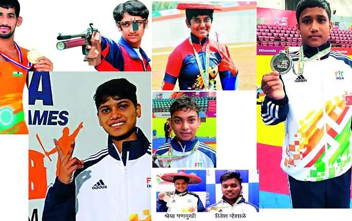 Kolhapur Shining in 'Khelo India' | 'खेलो इंडिया'त कोल्हापूर शायनिंग; राज्याच्या २५५ पदकांपैकी ३४ हून अधिक पदके कोल्हापूरकरांची
