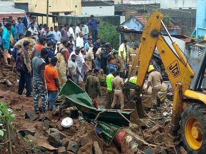 The wall collapsed due to rain, killing 15 people in tamilnadu   पावसामुळे खचलेली भिंत कोसळली, 15 जणांचा मृत्यू