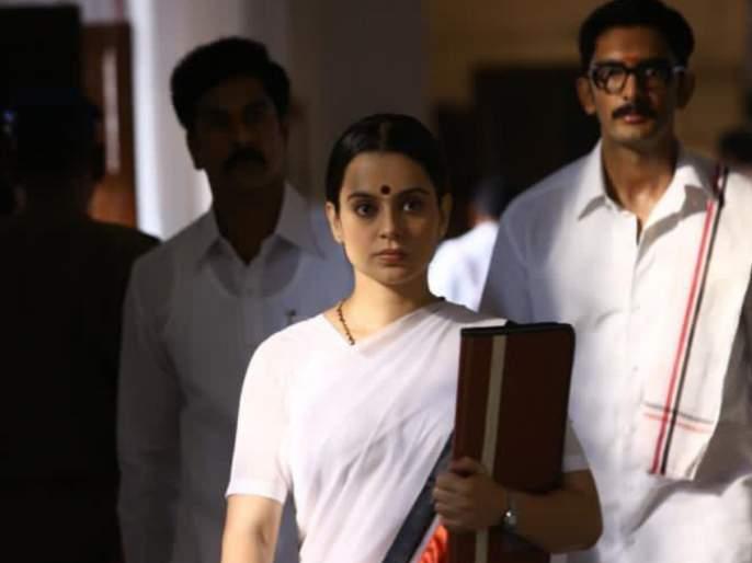 Kangana Ranaut pays tribute to Jayalalithaa on her death anniversary, shares photos from Thalaivi's set | जयललिता यांच्या पुण्यतिथीनिमित्त कंगना राणौतने वाहिली श्रद्धांजली, शेअर केले थलाइवीच्या सेटवरील फोटो