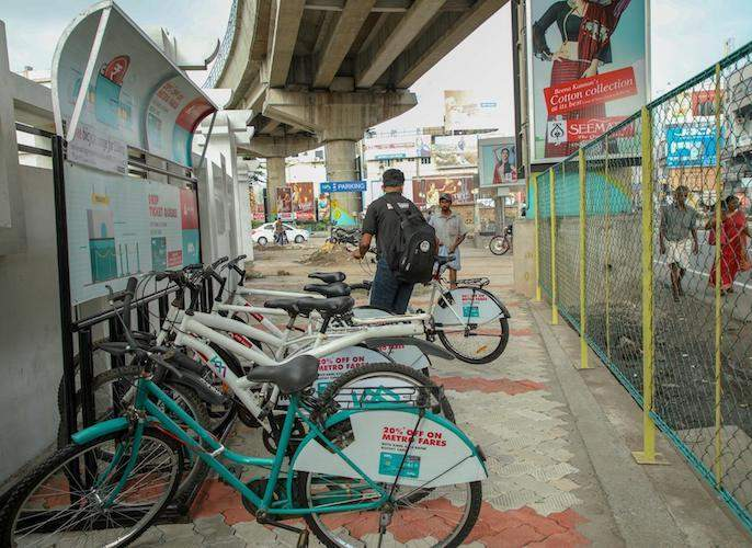 Offer for Metro travelers; Upon arriving at the station, the fare cycle will be available for Rs 2 | मेट्रो प्रवाशांसाठी भन्नाट ऑफर; स्टेशनवर उतरताच २ रुपयात मिळणार भाड्याने सायकल
