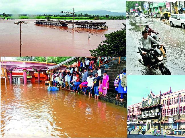 Rain rains; Kolhapur city tumbles! | पावसाने झोडपले; कोल्हापूर शहर तुंबले!